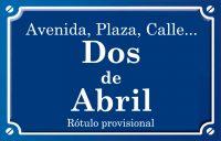 Dos de Abril (calle)