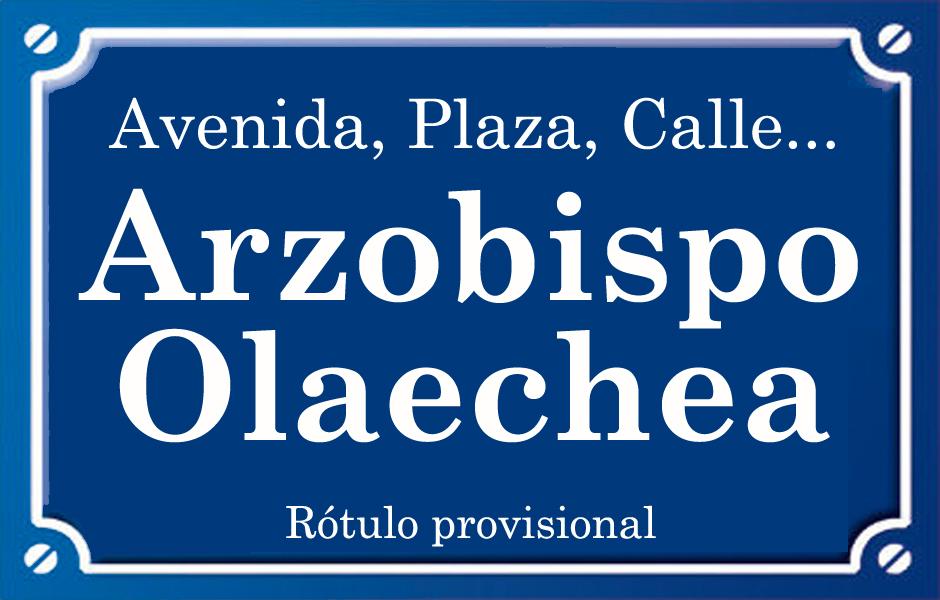 Arquebisbe Olaechea (calle)