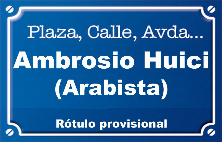 Arabista Ambrosio Huici (calle)