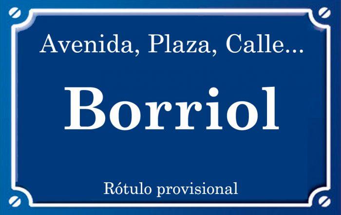 Borriol (calle)