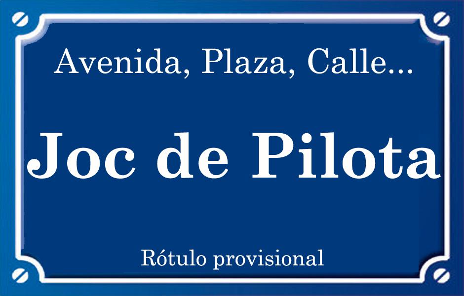 Joc de Pilota (calle)