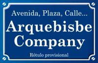Arquebisbe Company (calle)
