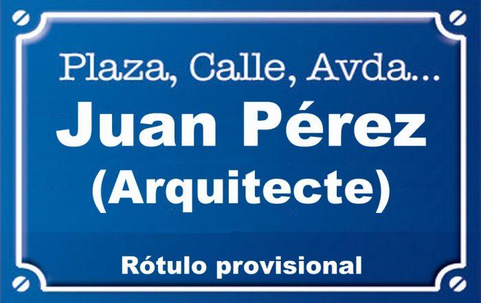 Arquitecte Juan Pérez (calle)
