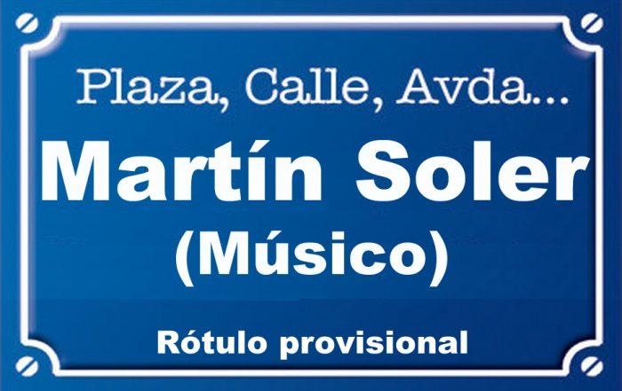 Músico Martín Soler (calle)