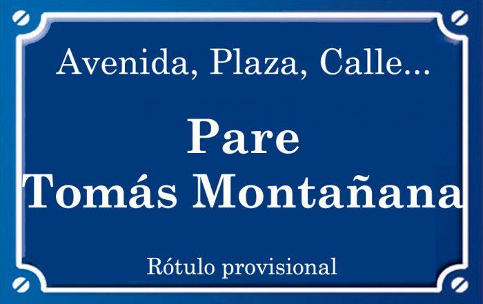 Pare Tomás Montañana (calle)