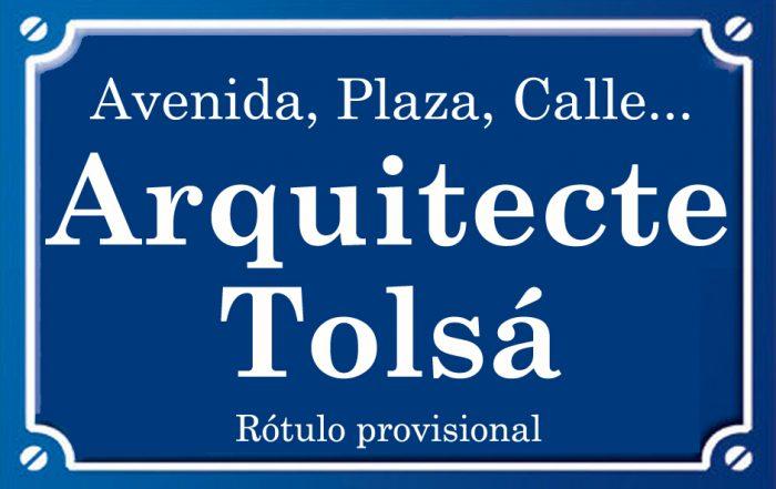 Arquitecte Tolsá (calle)