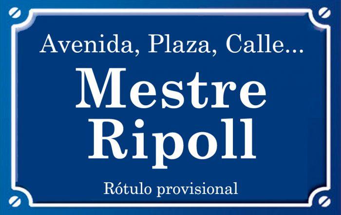 Mestre Ripoll (plaza)