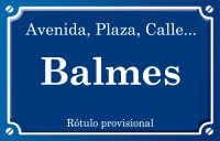 Balmes (calle)