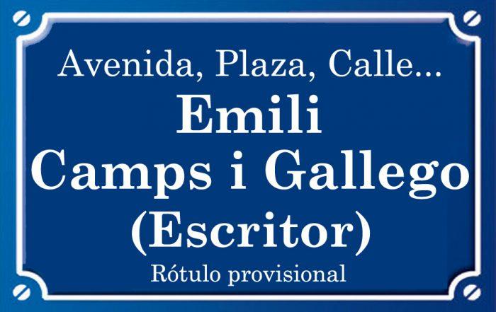 Emili Camps i Gallego (calle)