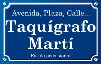 Taquígrafo Martí (calle)