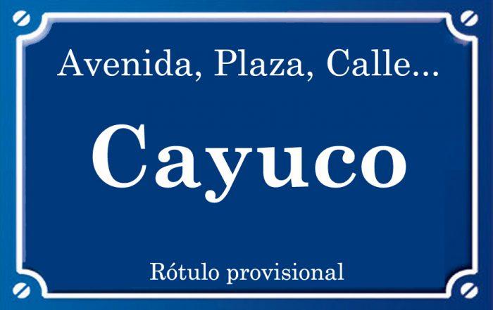 Cayuco (calle)