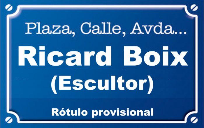 Escultor Ricard Boix (calle)