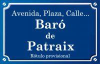 Baró de Patraix (calle)