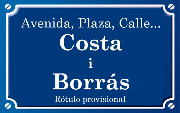 Costa i Borrás (calle)