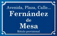 Fernández de Mesa (calle)