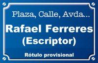 Escriptor Rafael Ferreres (calle)