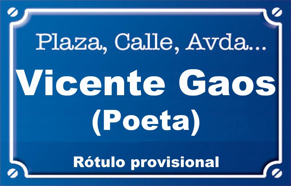 Poeta Vicente Gaos (plaza)