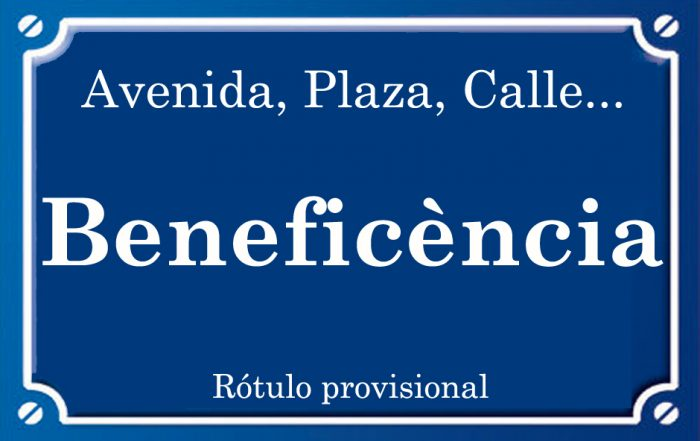 Beneficència (calle)