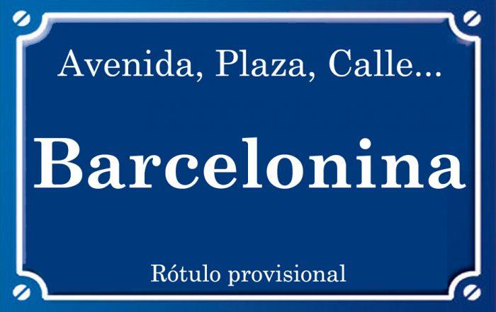 Barcelonina (calle)