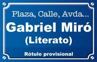 Literato Gabriel Miró (calle)