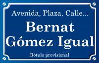 Bernat Gómez Igual (calle)