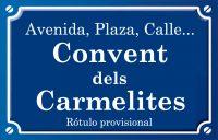 Convent dels Carmelites (calle)