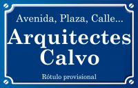 Arquitectes Calvo (plaza)