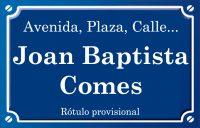 Joan Baptista Comes (calle)