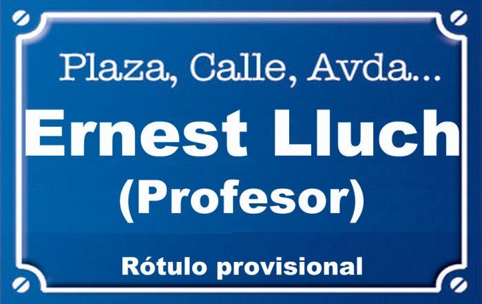 Profesor Ernest Lluch (calle)
