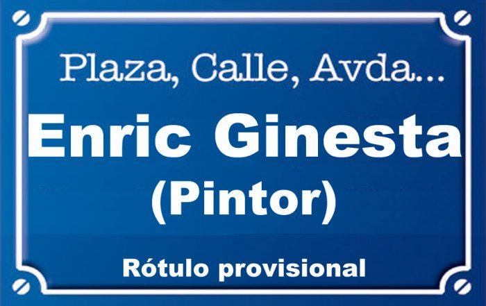 Pintor Enric Ginesta (calle)