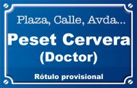 Doctor Peset Cervera (calle)