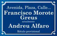 Francisco Morote Greus (calle)