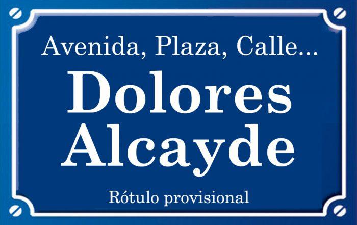 Dolores Alcayde (calle)