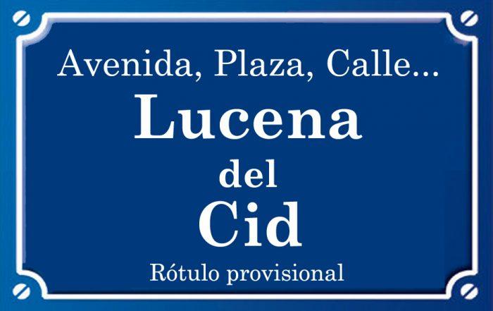 Lucena del Cid (calle)