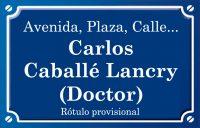 Doctor Carlos Caballé Lancry (calle)