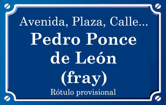 Fray Pedro Ponce de León (calle)
