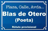 Poeta Blas de Otero (calle)