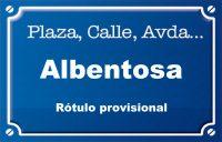 Albentosa (calle)