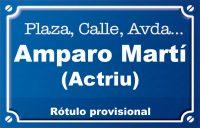 Actriu Amparo Martí (calle)