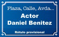 Actor Daniel Benitez (calle)