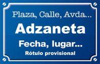 Adzaneta (calle)