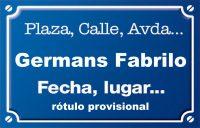 Germans Fabrilo (calle)