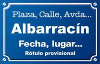 Albarracín (calle)