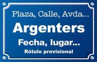 Argenters, Dels (calle)