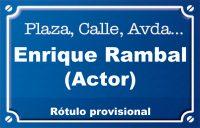 Actor Enrique Rambal (plaza)