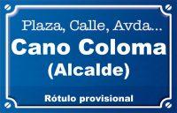 Alcalde Cano Coloma (calle)