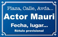 Actor Mauri (calle)