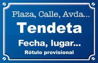 Tendeta (senda)