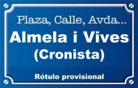 Cronista Almela i Vives (calle)