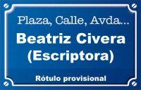 Beatriu Civera, escriptora (plaza)